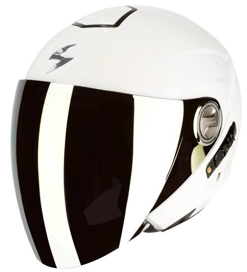 Scorpion Exo 210 Air jet helmet White