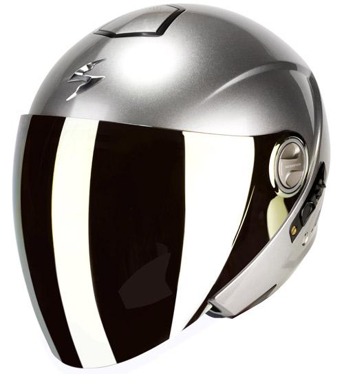 Scorpion Exo 210 Air jet helmet Hypersilver