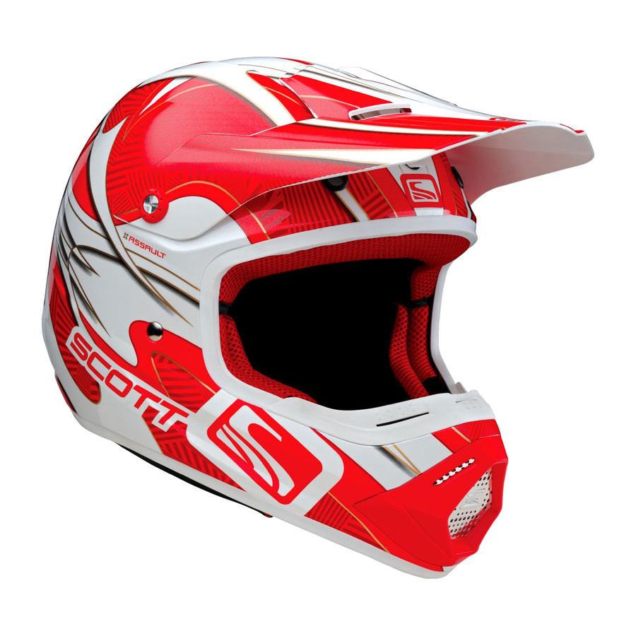 Casco cross Scott 250 Vapor Rosso