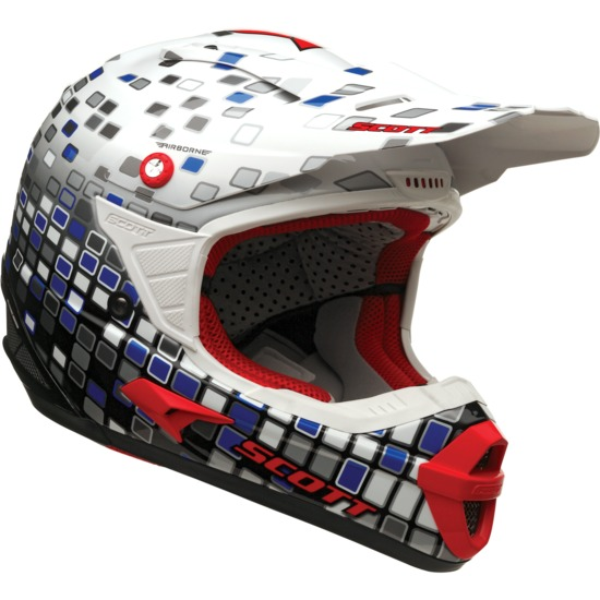 Cross helmet Scott Airborne Mosaic Red Blue