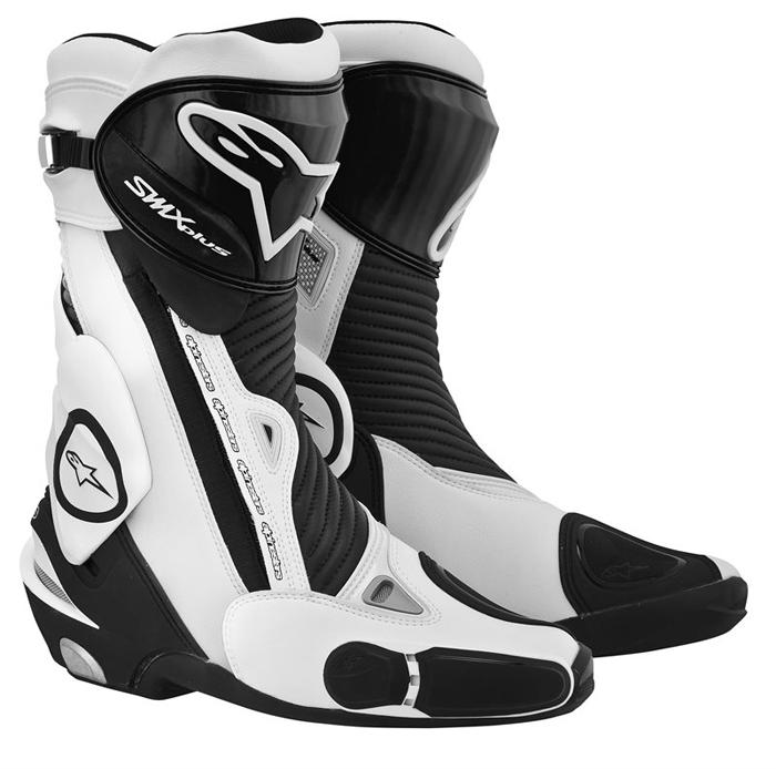 Stivali moto Alpinestars S-MX Plus Nero Bianco