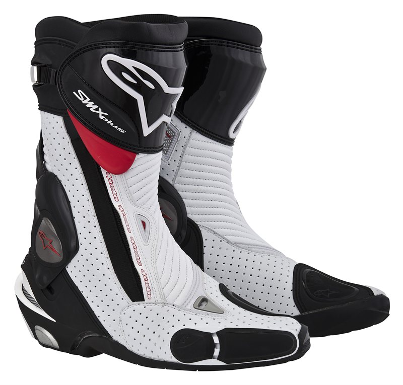 Alpinestars S-MX Plus mtorcycle boots black-white- red vented