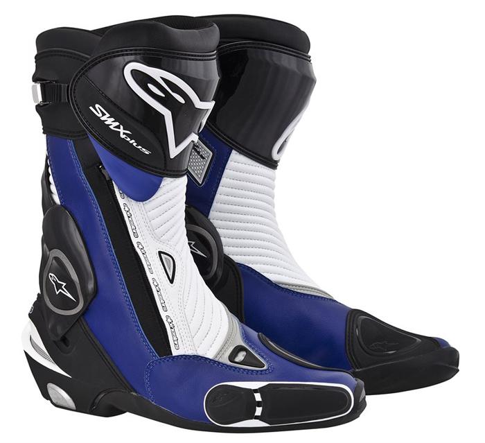 Stivali moto Alpinestars S-MX Plus Nero Blu Bianco