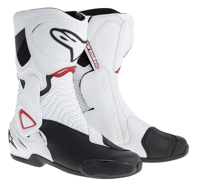 Vented Boots Alpinestars SMX 6 White Black Red