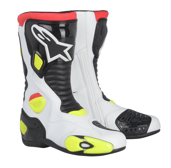 ALPINESTARS S-MX 5 racing boots col. white-black-yellow fluo