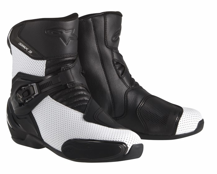 Alpinestars S-MX 3 boots black white vented