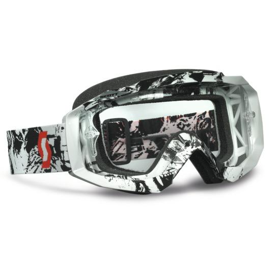 Occhiali scott Hustle MX Tiger Nero Bianco