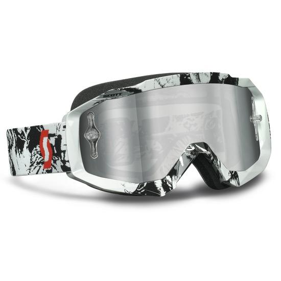 Occhiali scott Hustle MX Tiger Nero Bianco lente Silver