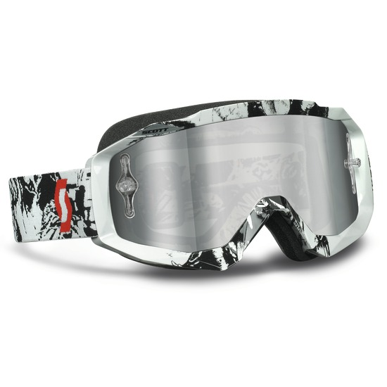 Scott Hustle MX goggles Tiger Black White Silver lens
