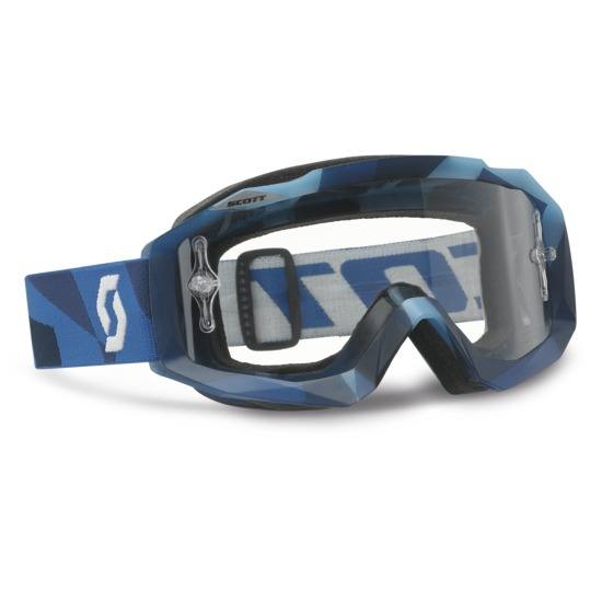 Scott Hustle MX Goggles Cross Blue Abstract