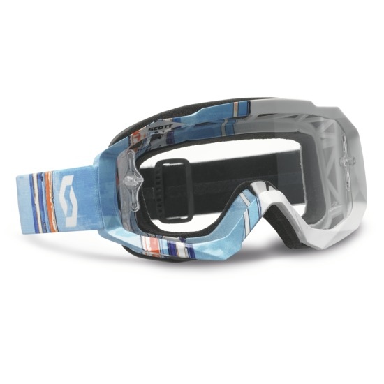 Occhiali cross Scott Hustle MX Pixel Bianco Blu