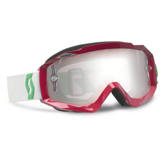Scott Hustle MX Goggles cross Oxide Red White