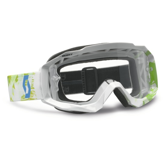 Occhiali cross Scott Hustle MX Scribble Bianco Verde