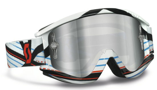 Motocross goggles Scott RecoilXI Pro Grid Lock White