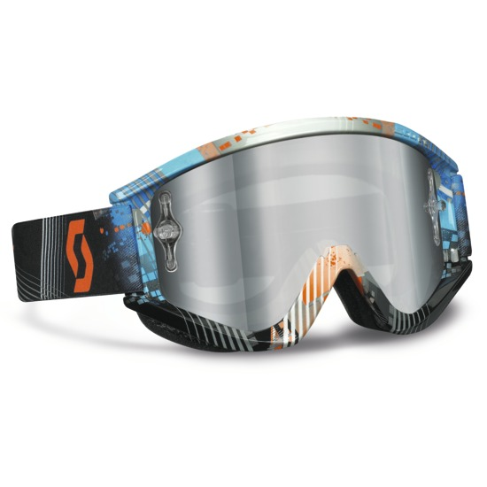 Glasses Scott Recoil XI Pro Tangent Blue Orange Lens Silver