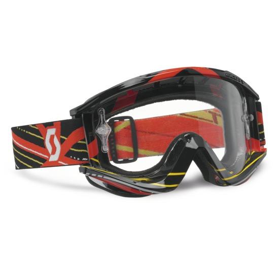 Scott cross glasses RecoilIX Pro Grid Lock Black Red