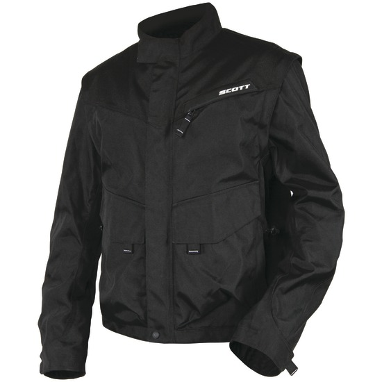 Cross jacket with detachable sleeves Adventure Scott Black Grey