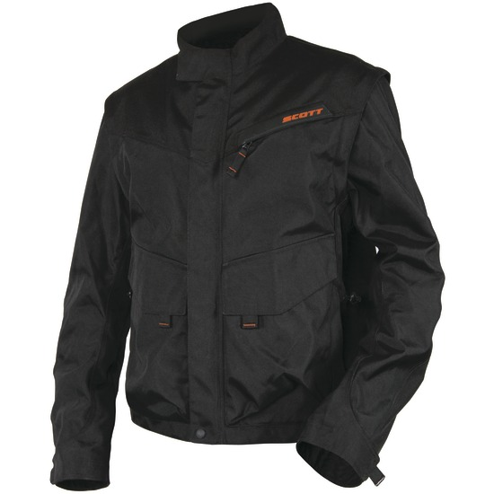 Giacca cross Scott Adventure con maniche staccabili Nero Arancio