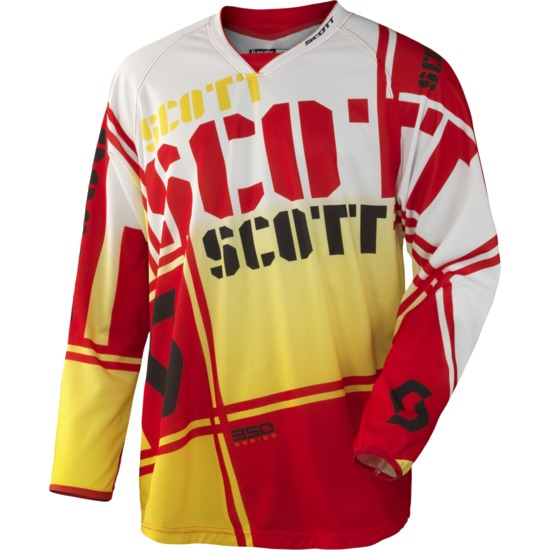 Jersey cross Scott 350 Squadron Red Yellow