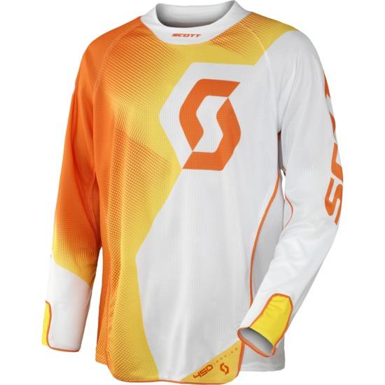 Fission cross jersey Scott 450 White Orange