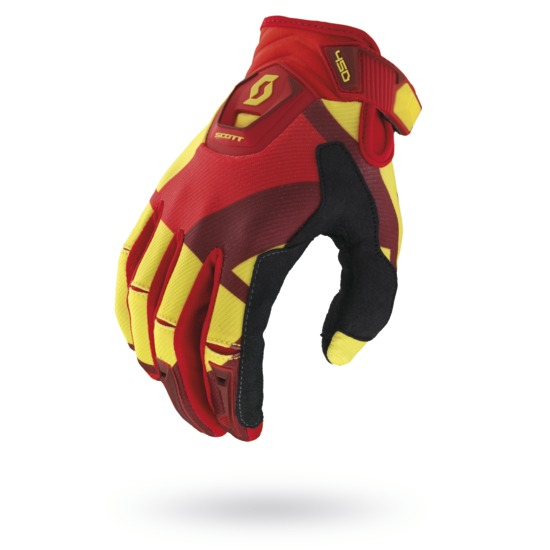 Gloves Scott 450 Cubic Yellow Red Cross