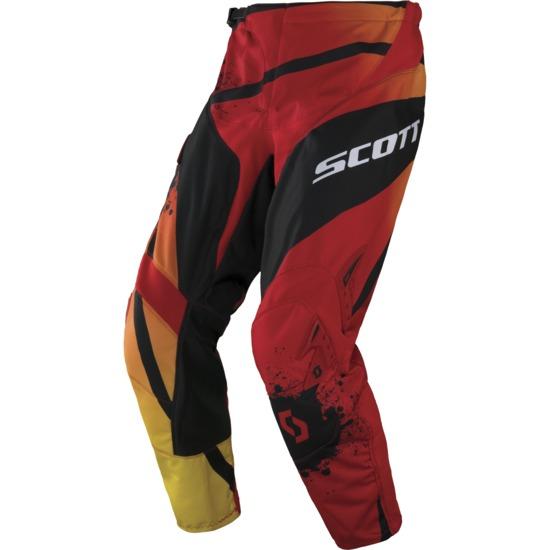 Pantaloni Cross bambino Scott 350 Kids Tactic Nero Rosso