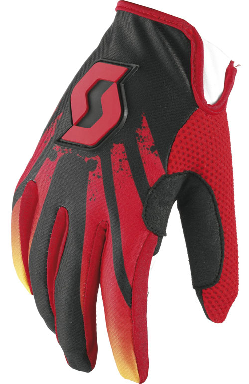 Gloves Scott 350 child cross Tactic Kids Red Black