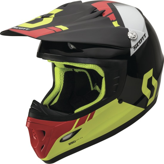 Casco cross bambino Scott 250 Kids Photon ECE Nero Verde