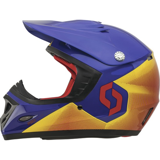 Cross helmet child Scott Fission ECE 250 Kids Red Blue