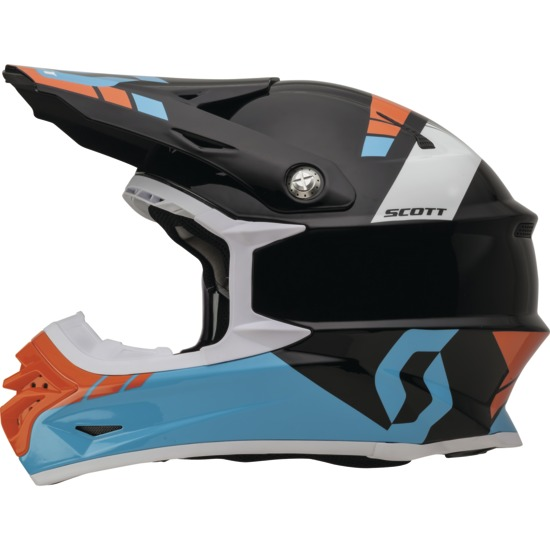 Casco cross Scott 350Pro Photon Blu Nero