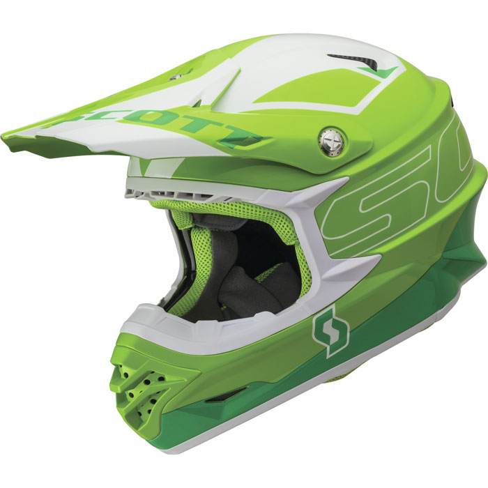 Casco cross Scott 350 Pro Stratum Verde
