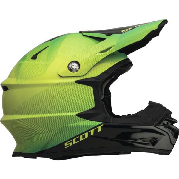 Fission cross helmet Scott Pro 350 Black Green