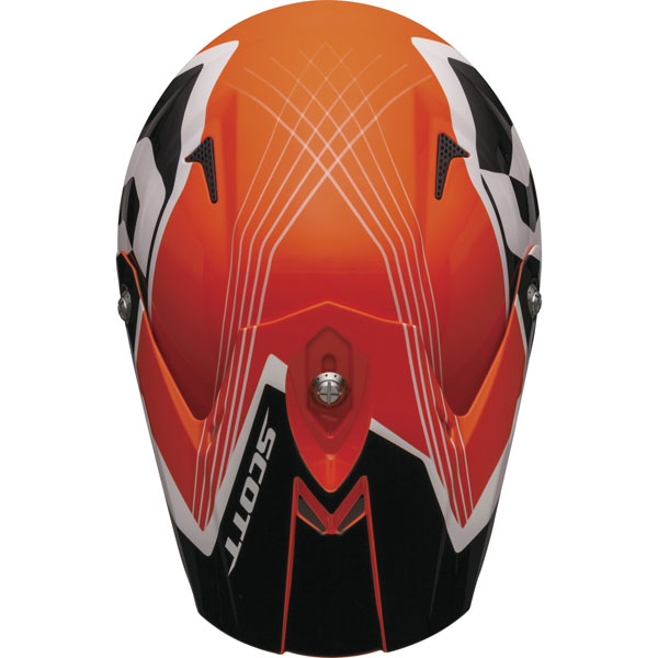 Casco cross Scott 350 Pro Slipstream ECE Arancio