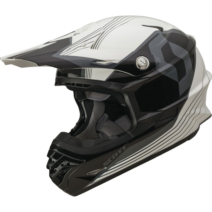 Casco cross Scott 350 Pro Slipstream ECE Nero Bianco