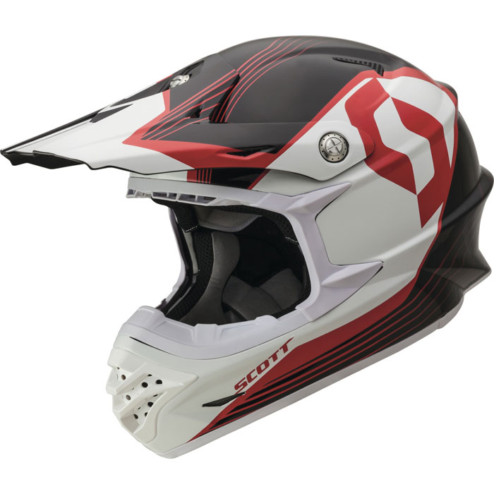 Casco cross Scott 350 Pro Slipstream ECE Nero Rosso