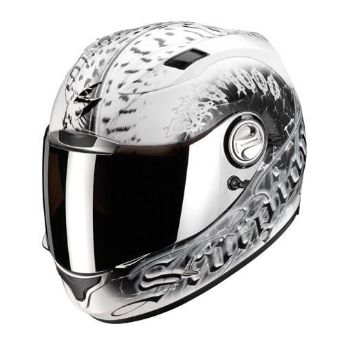 Casco integrale Scorpion Exo 1000 Air Darkness Bianco Nero