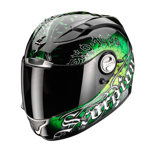 Casco integrale Scorpion Exo 1000 Air Darkness Nero Verde