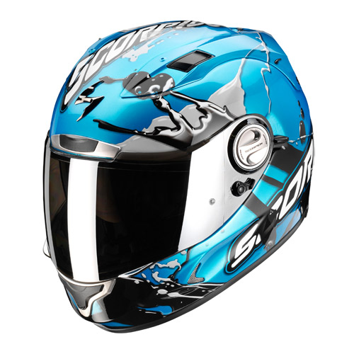 Casco integrale Scorpion Exo 1000 Air Splash Azzurro Cielo