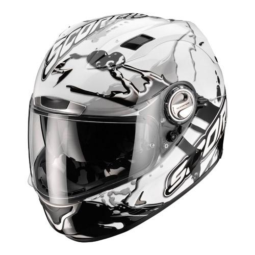 Casco integrale Scorpion Exo 1000 Air Splash Bianco Nero