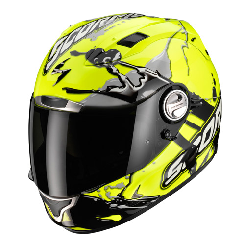 Casco integrale Scorpion Exo 1000 Air Splash Giallo Neon