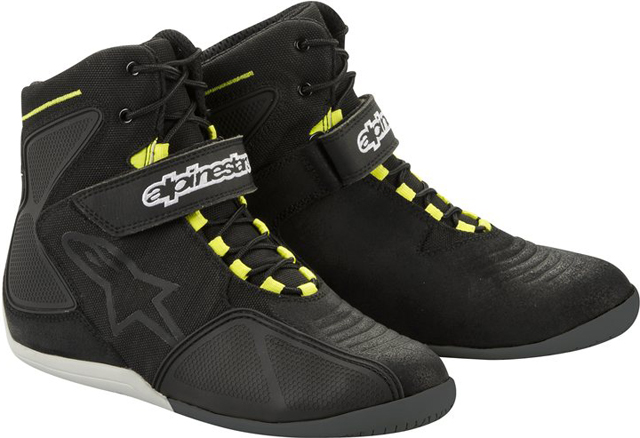 Alpinestars FASTBACK WP shoes Black-Silver-Yellow