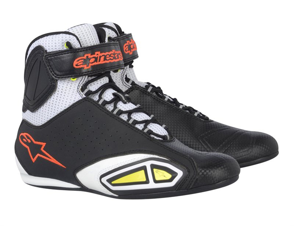 Alpinestars  Fastlane Vented 2510312 shoes black-white-yellow