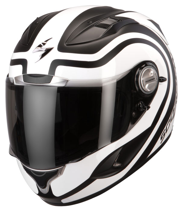 Scorpion Exo 1000 Air Round-Up full face helmet Matt Black White