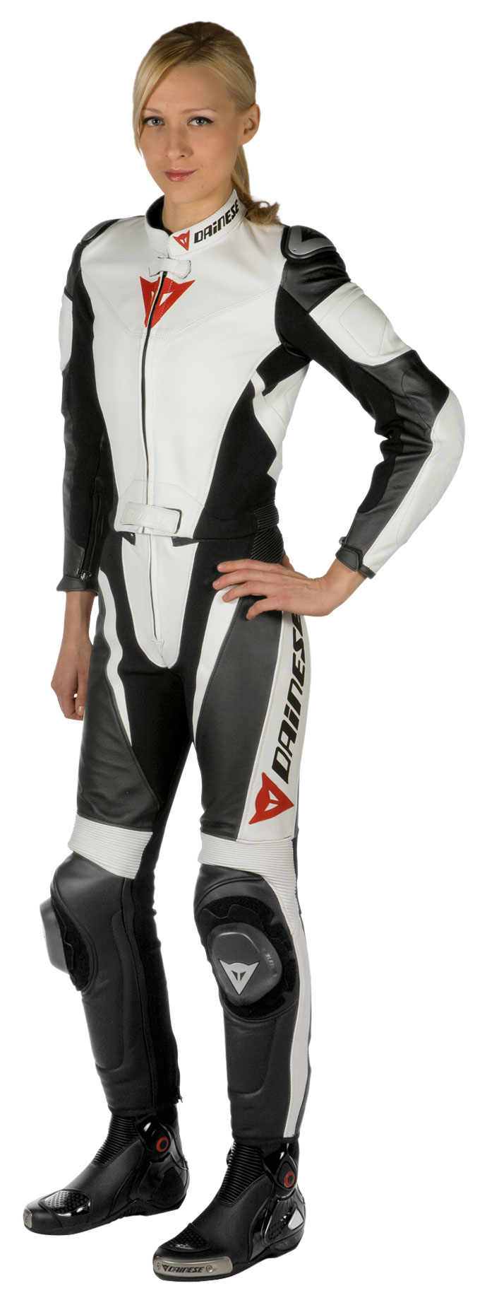 Divisible woman biker motorcycle jacket Dainese Avro Leather Whi
