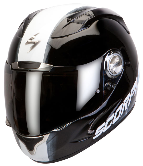 Full face helmet Scorpion Exo 1000 Splitter Black White