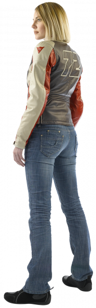 Giacca moto donna in pelle ARWEN PELLE LADY Marrone-Ghiaccio-Ros
