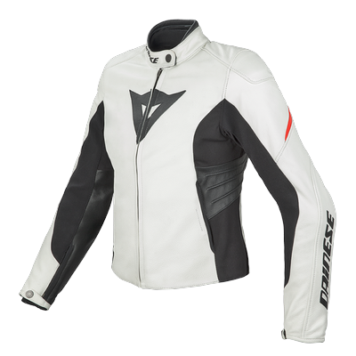 Giacca moto pelle donna Dainese Laguna Evo Lady Bianco Rosso