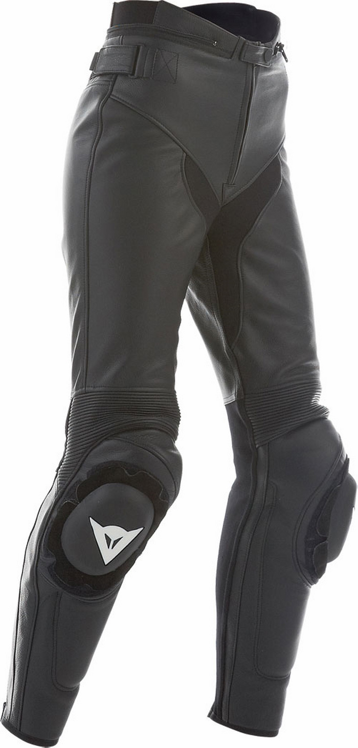 Woman leather motorcycle trousers Dainese SF Lady Black