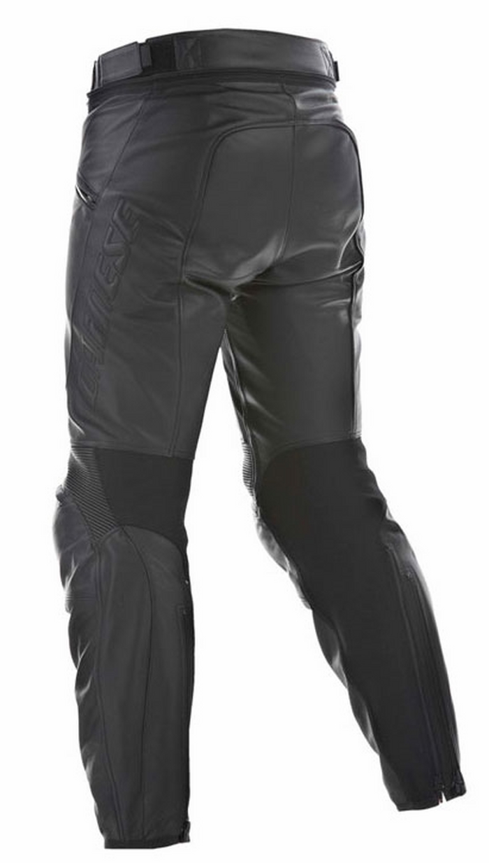 Woman leather motorcycle trousers Dainese Pony C2 Lady Black