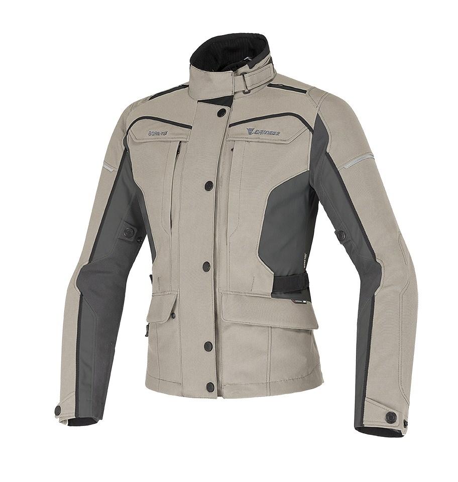 Dainese Zima GoreTex woman jacket Peyote Dark gull Black